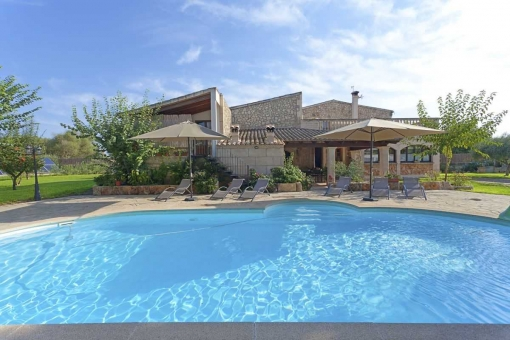 Finca Puig Xigala with terrace and pool